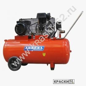 Компрессор Aurora STORM-100 (100л, 290л/мин, 2,2кВт, 220В, 2 цилиндра) - ременной