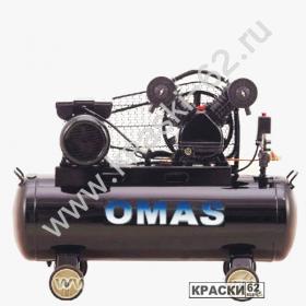 Компрессор OMAS AirMax 100/360.2 (220В, 360л/мин, 100л, 10бар, 2.2кВт, 80кг, 2 цилиндра)