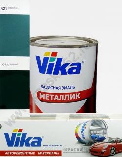 963 Зеленый VIKA металлик базисная эмаль