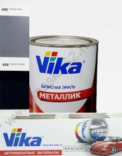 498 Лазурно - синий VIKA металлик базисная эмаль