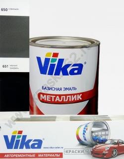 651 Черный трюфель VIKA металлик базисная эмаль