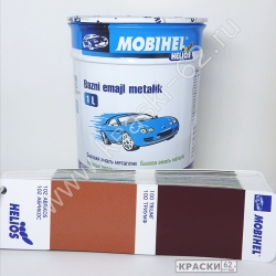 102 Абрикос MOBIHEL металлик базовая эмаль