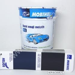 498 Лазурно - синяя MOBIHEL металлик базовая эмаль