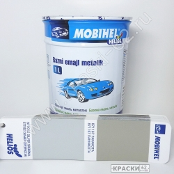 877052 Сильвер серебристая MOBIHEL металлик базовая эмаль