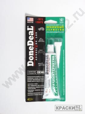 Прозрачный герметик силиконовый, клей Done Deal DD6703
