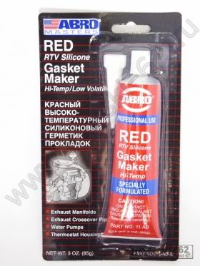 Термостойкий герметик силиконовый для прокладок ABRO красный +343°C