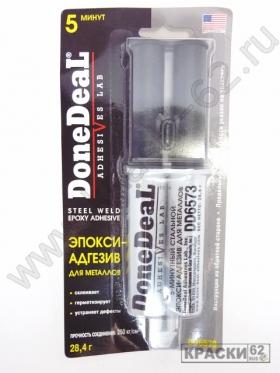 5-минутный 2-компонентный стальной эпокси-адгезив в шприце Done Deal DD6573