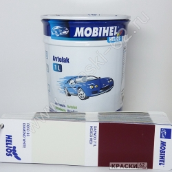 Ford b3 diamond white MOBIHEL АЛКИДНАЯ ЭМАЛЬ