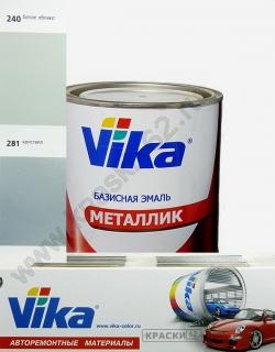 240 Белое облако VIKA металлик базисная эмаль