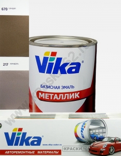 217 Миндаль VIKA металлик базисная эмаль