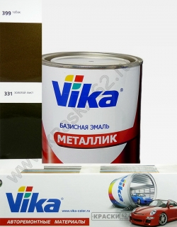399 Табак VIKA металлик базисная эмаль