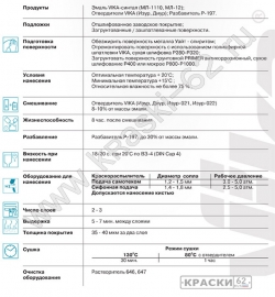 42 Красная VIKA Синталовая эмаль МЛ-1110